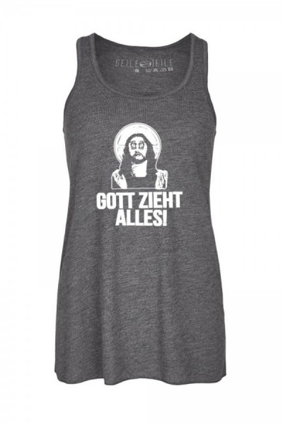 Gott zieht alles Girls Racerbank Tank Top - Grey