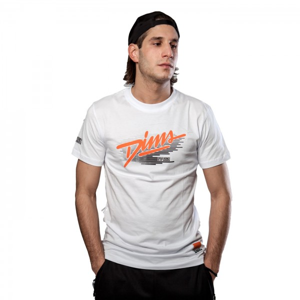 DIMS FADE STROKES T-SHIRT WHITE (CASHCODE COLLECTION)
