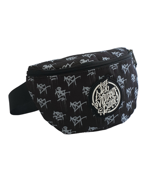 187 Strassenbande All Over Tags Bauchtasche Black