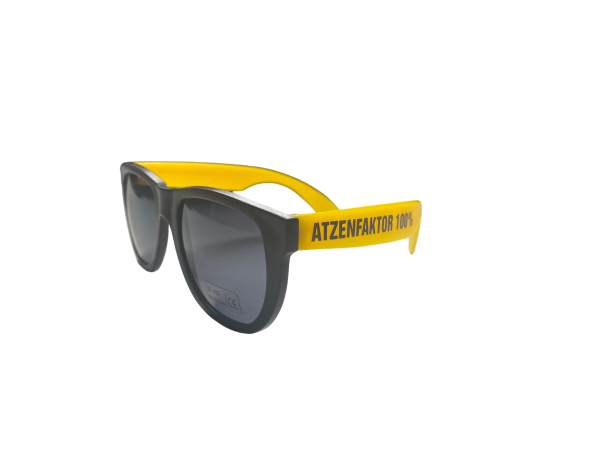 Brille - Atzenfaktor 100% - Yellow