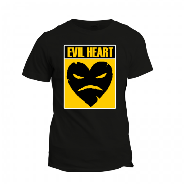 T-Shirt - Evil Heart Yellow