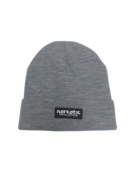 Narcotic Athletics Letter Patch Beanie Grey
