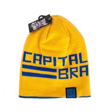 Capital Bra - Wendebeanie BRA blau-gelb
