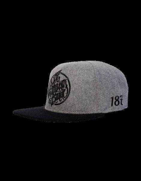 187 Strassenbande Snapback Cap Grey/Black