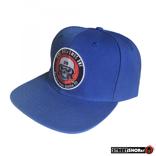 Snapback-Cap Battle Skull Blue