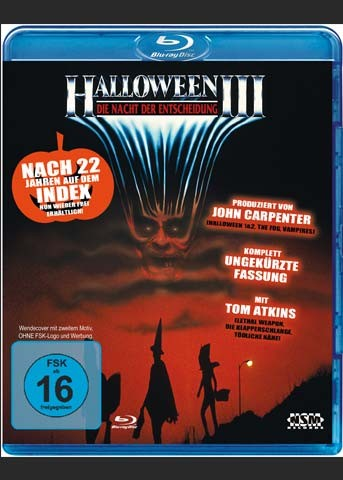 HALLOWEEN 3 (Blu-Ray) - Uncut - Wendecover mit 2. Motiv
