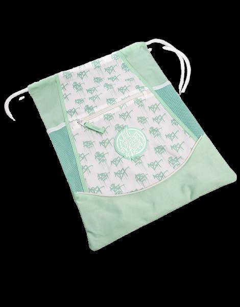 187 Strassenbande Drawstring Bag Turquise/White